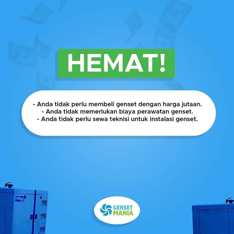 SEWA GENSET MURAH HEMAT