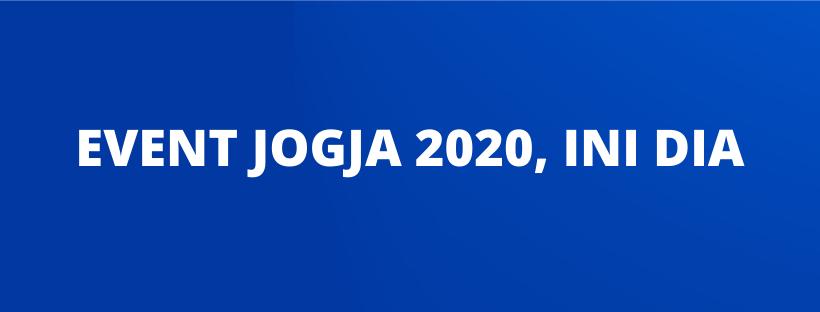 EVENT JOGJA 2020, INI DIA
